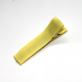 Alligator clip bekleed met geel grosgrain lint