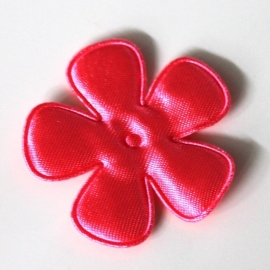 47mm neon satijn bloem roze
