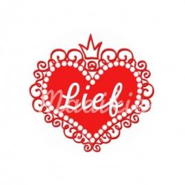 (FB153) Hart lief rood