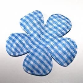 47mm Blauwe ruitbloemen