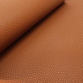 Mooi lapje kunstleer  oranje/bruin (lipa)