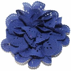 Bloem met gaatjes royal blauw 8cm