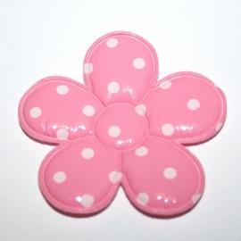 Xl vinyl bloem roze polkadot