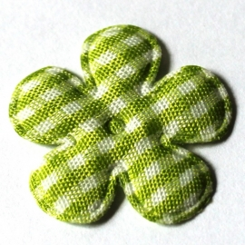25mm ruit bloem lime