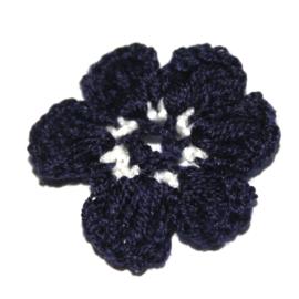 gehaakte bloem navy