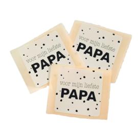 """Sticker """" Liefste Papa"""" 5 stuks"""