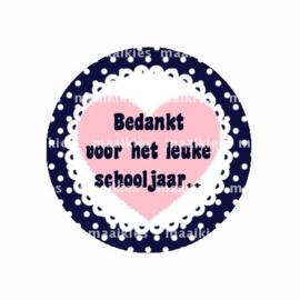 (FB826)BEDANKT SCHOOLJAAR NAVY