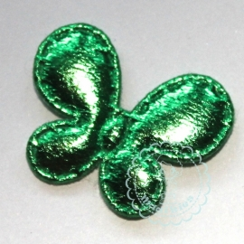 Vlinder metallic smal groen