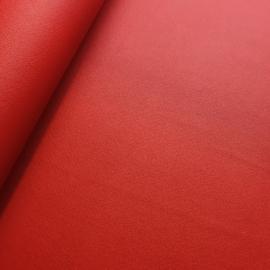 Dun soepel lapje rood pu leer (SK)