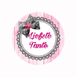 (FB605) Liefste tante roze grijs