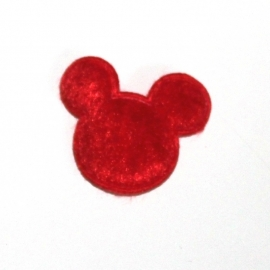 Muis hoofdjes pluche rood
