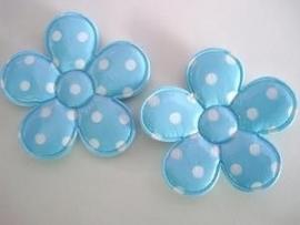 Vinyl bloem blauw polkadot