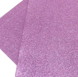 Lapje pu leer glitter lila