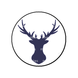 FB785 deer donker blauw