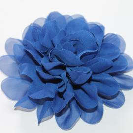 12 cm chiffon bloem kobalt blauw
