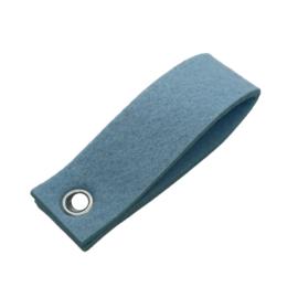 Sleutelhanger vilt dubbele rechthoek pastel blauw (14)