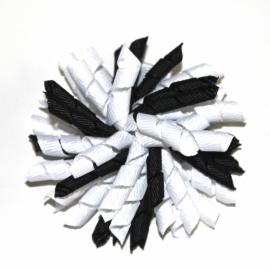 Krullies (fijntjes) zwart /wit