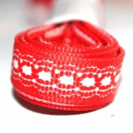 3m Grosgrain lint 10mm kant print rood