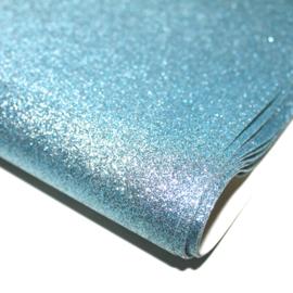 Lapje glitter pu leer blauw