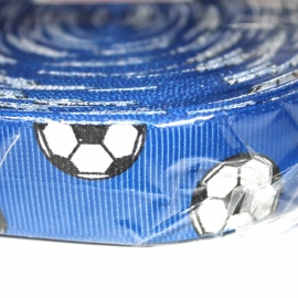 Voetbal lint 22mm royal p/m