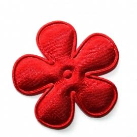 35mm satijn bloem rood
