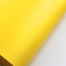 Lapje pu leer knal geel