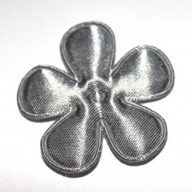 35mm satijn bloem grijs