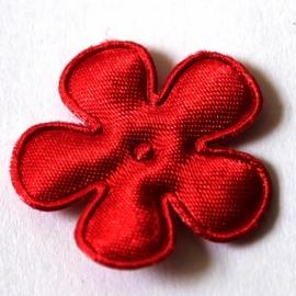 25mm satijn bloem rood 10