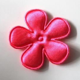 35mm neon satijn bloem roze