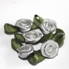 Super kwaliteit roosjes Zilvergrijs