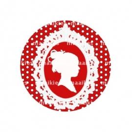 (FB341) rood dot sjiek