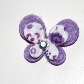 Mini dubbellaags vlinder paars