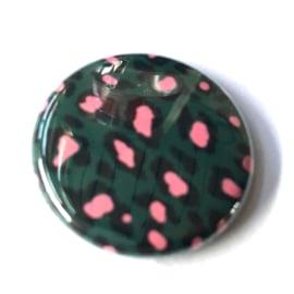 (FB898) leopard groen/framboos