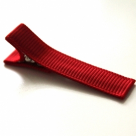 Alligator clip bekleed met rood grosgrain lint