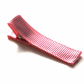 Alligator clip bekleed met roze grosgrain lint