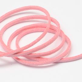 Suède veter licht roze