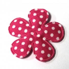 35mm polkadot bloem felroze