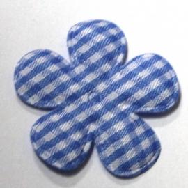 35mm  blauw ruit bloem