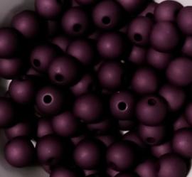 Acryl kralen 8mm aubergine 50 stuks