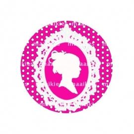 (FB337) roze dot sjiek