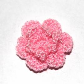 Roze gehaakte bloemen (25mm)