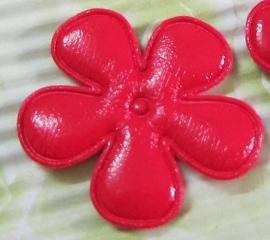 35mm vinyl bloem rood