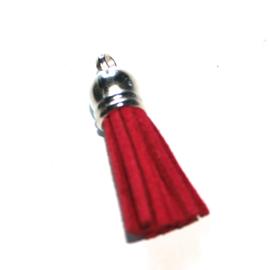 Suède kwastje rood 38mm
