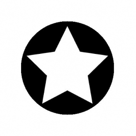 (FB158) ster zwart