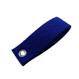 Sleutelhanger vilt rechthoek royal blauw (18)