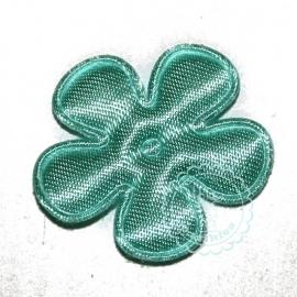 25mm satijn bloem blue mint