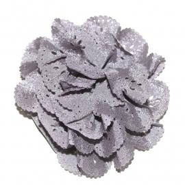 Bloem met gaatjes grijs (8cm)