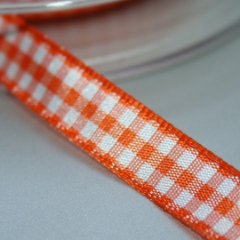 Oranje boeren ruit band 10mm breed