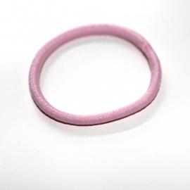 elastiek smal pastel roze