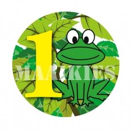 Verjaardags button KIKKER 1-6 jaar